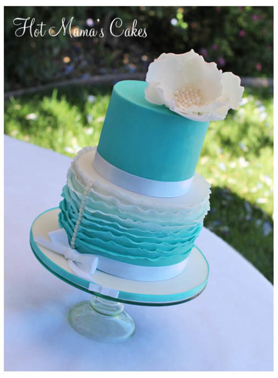 Tiffany Blue Wedding Cake Designs