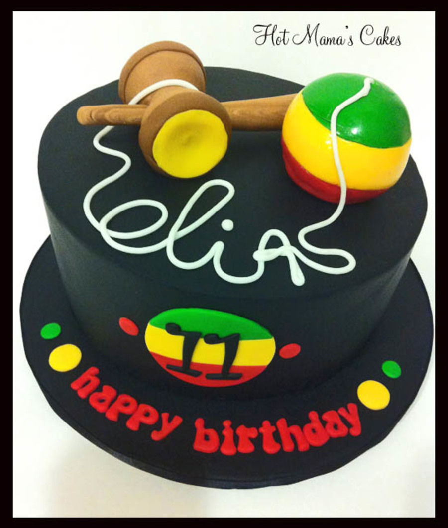 Rastafari Kendama Cake - CakeCentral.com