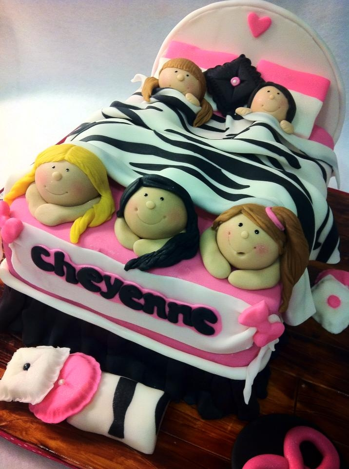 Slumber Party Cake Decorating Ideas