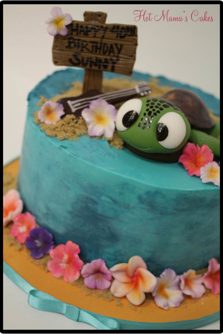Surprising Hawaiian Themed Birthday Cake Cakecentral Com Personalised Birthday Cards Petedlily Jamesorg
