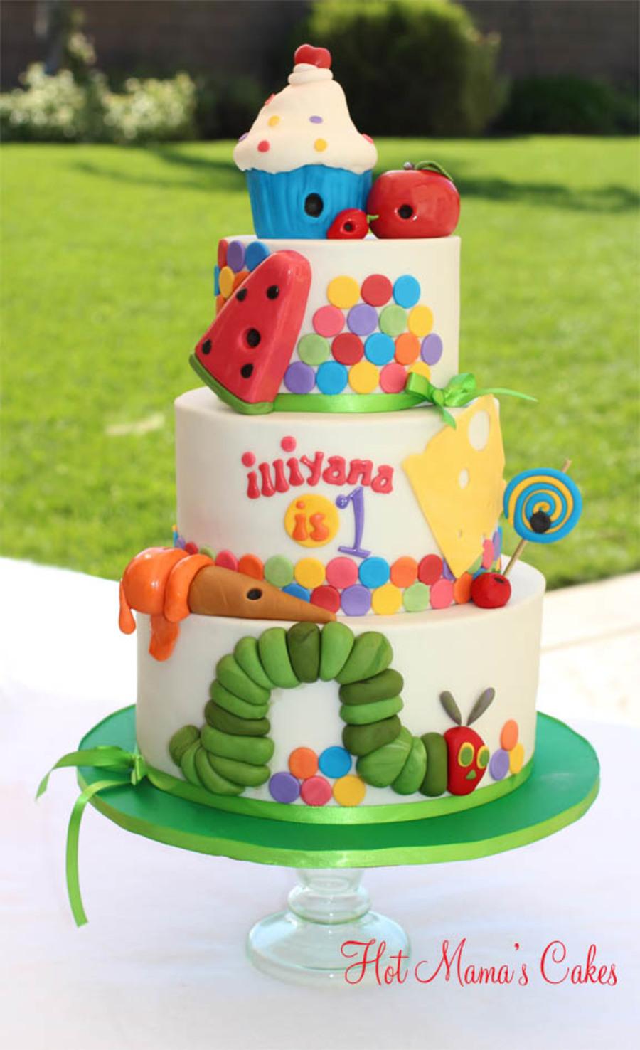 Make Very Hungry Caterpillar Cupcake Cake