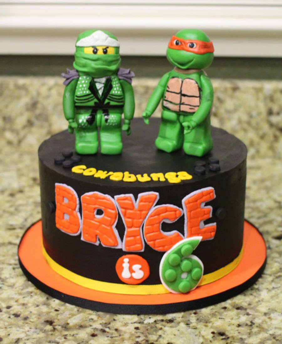 Ninjago And Tmnt Combo Cake - CakeCentral.com