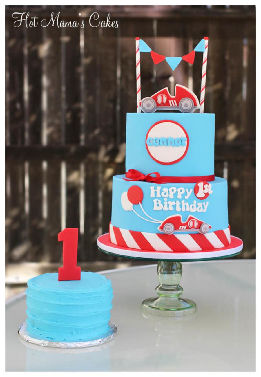 Race Car Themed 1St Birthday CakeCentralcom