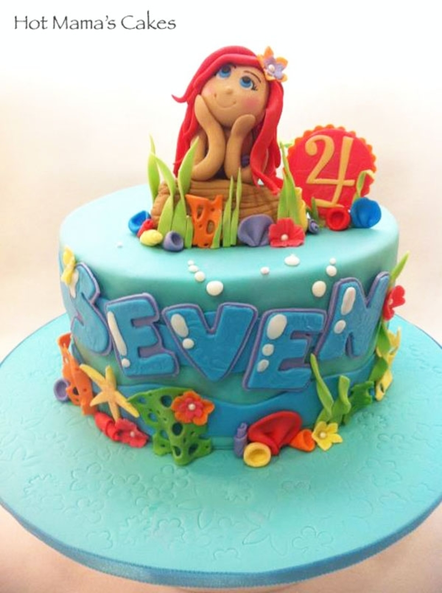 Little ariel cake for Ariel cake decoration