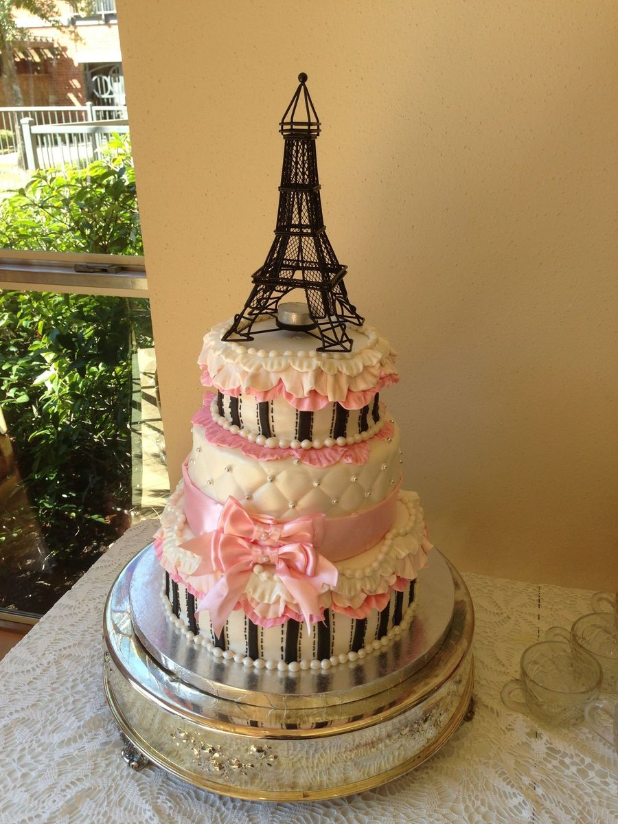 Paris Themed Baby Shower For Girl Cakecentral