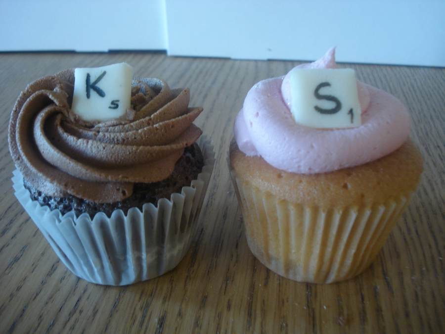 Scrabble Letter Cupcakes - CakeCentral.com