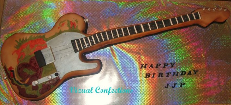 Jimmy Page Guitar Cake on Cake Central