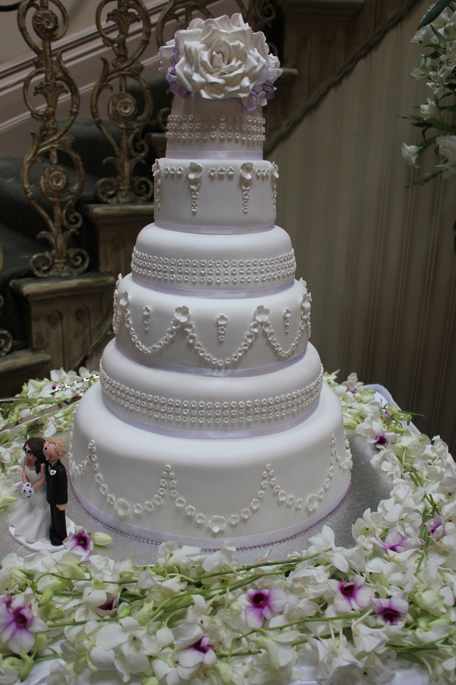 Six Tier Wedding Cake on Cake Central