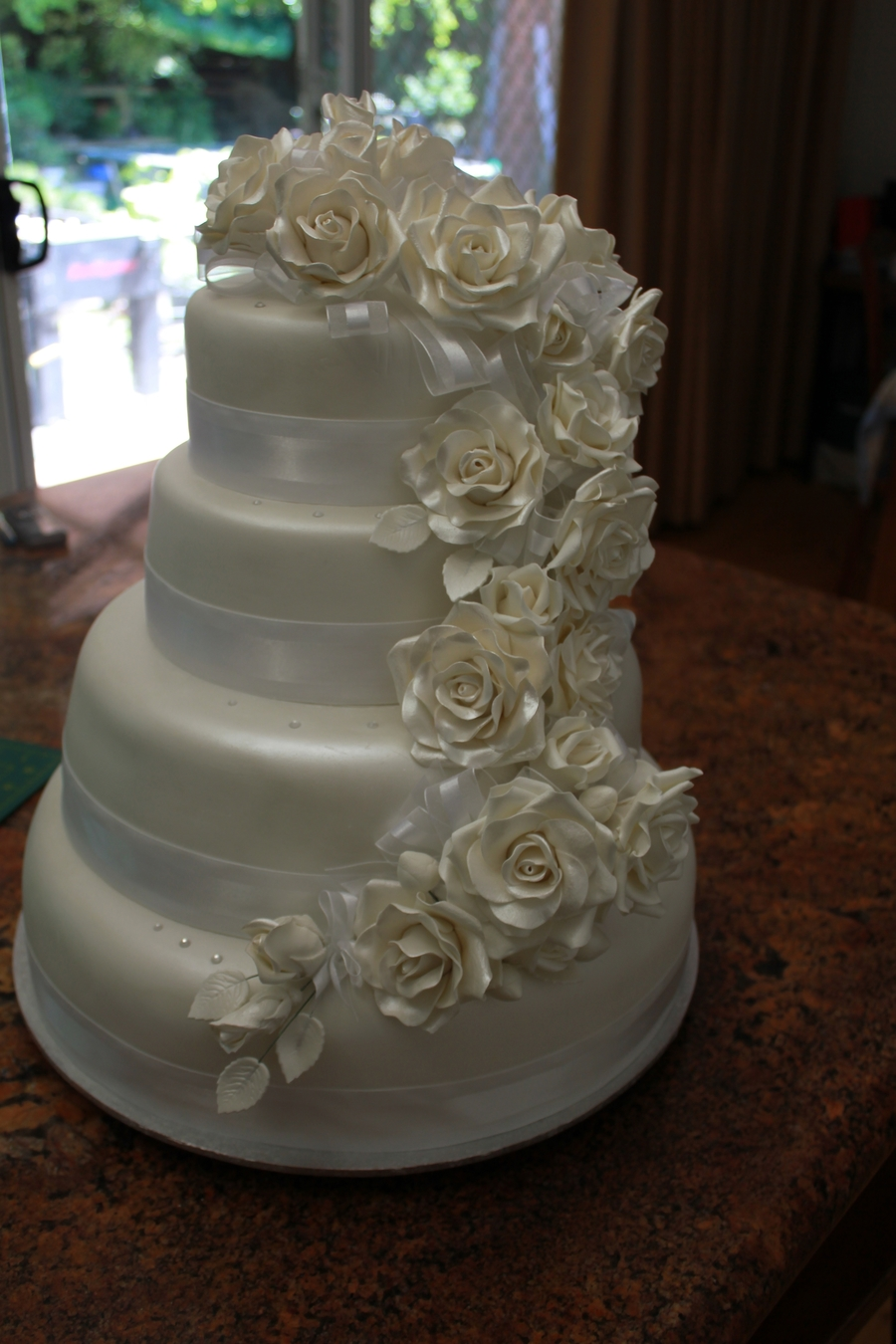 Rose Wedding Cake on Cake Central
