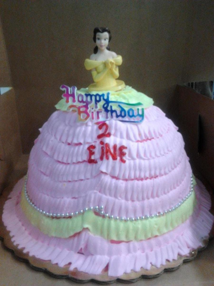 Pink & Yellow Princess Belle on Cake Central