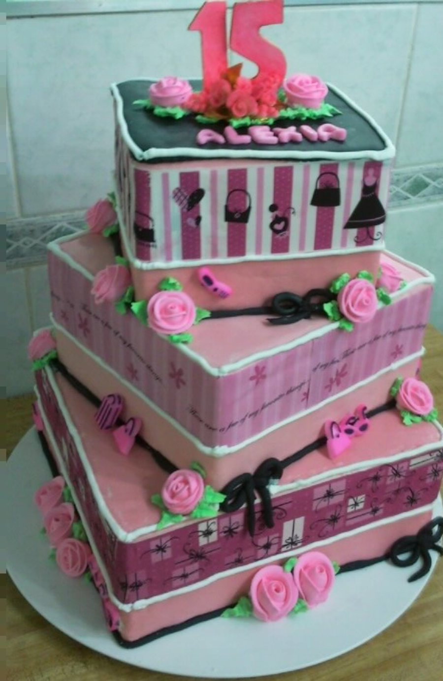Fashionista Fifteen Birthday Cake on Cake Central