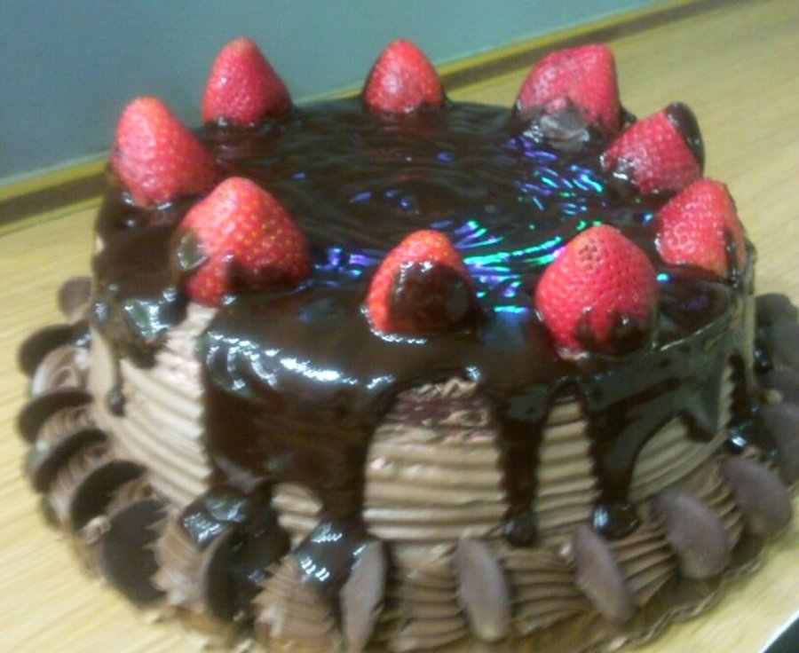 Chocolate& Strawberries on Cake Central