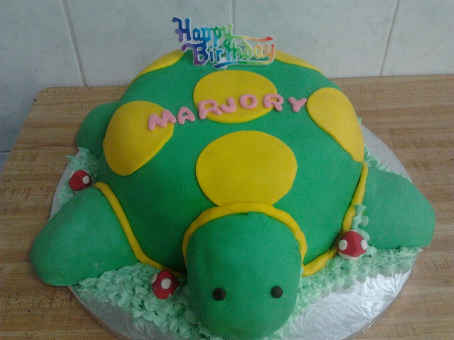 Turtle Fondant Cake on Cake Central