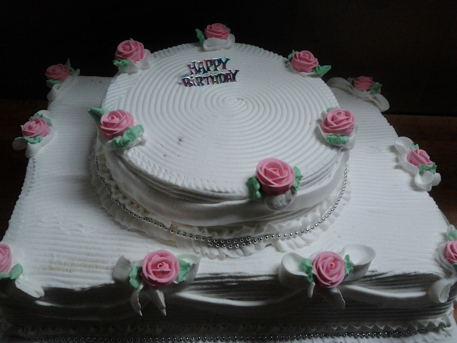 Pink Flowers Birthday Cake on Cake Central