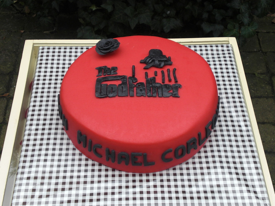 The Godfather Birthday Cake CakeCentralcom