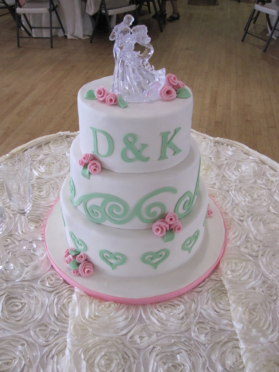 Debbie & Kevin's Wedding Cake on Cake Central