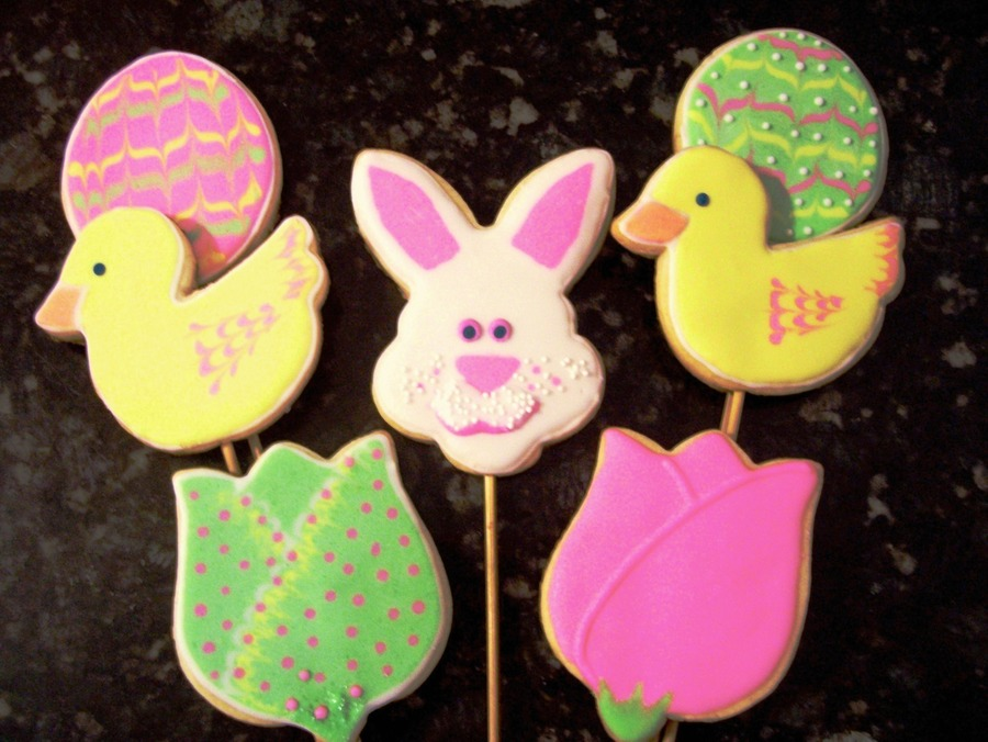 For Easter Cookie Bouquets on Cake Central
