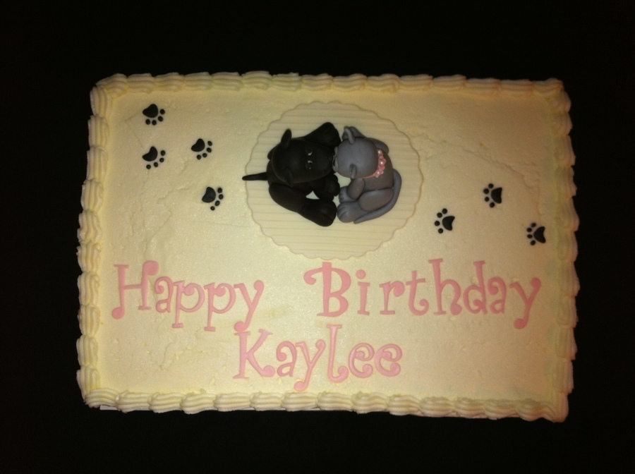 Cat & Dog Birthday Cake - CakeCentral.com