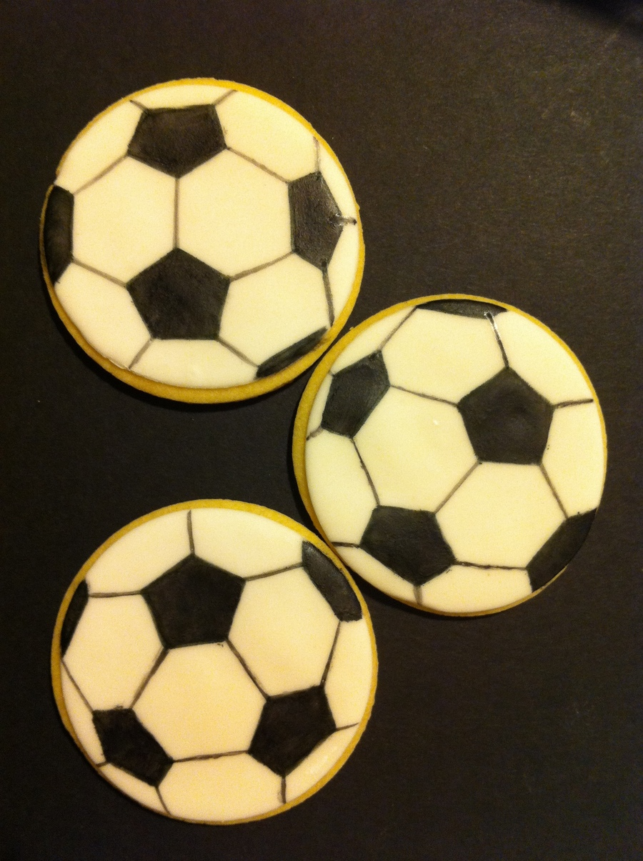 Soccer Cookies  on Cake Central