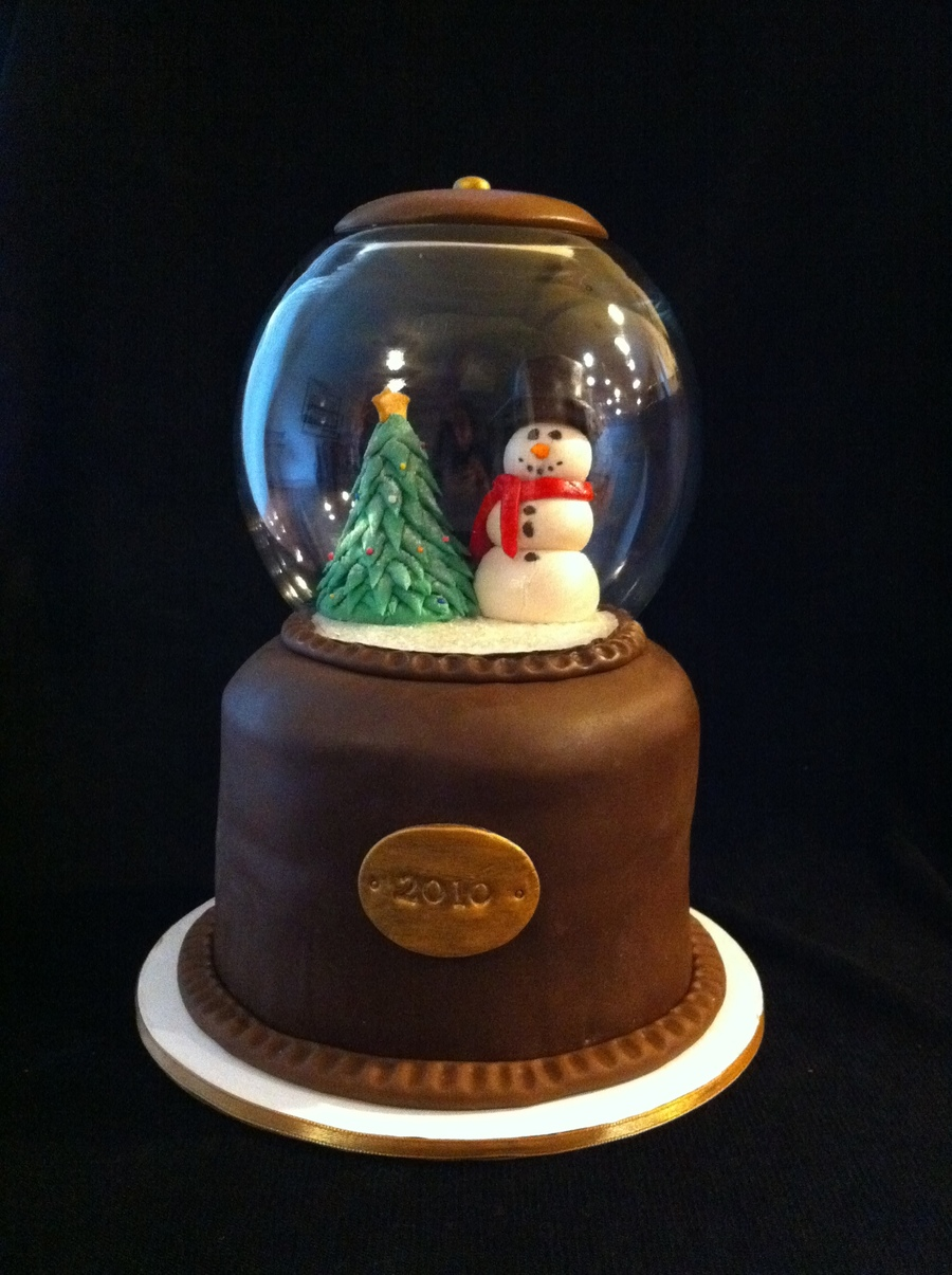 Christmas Snow Globe Cake on Cake Central