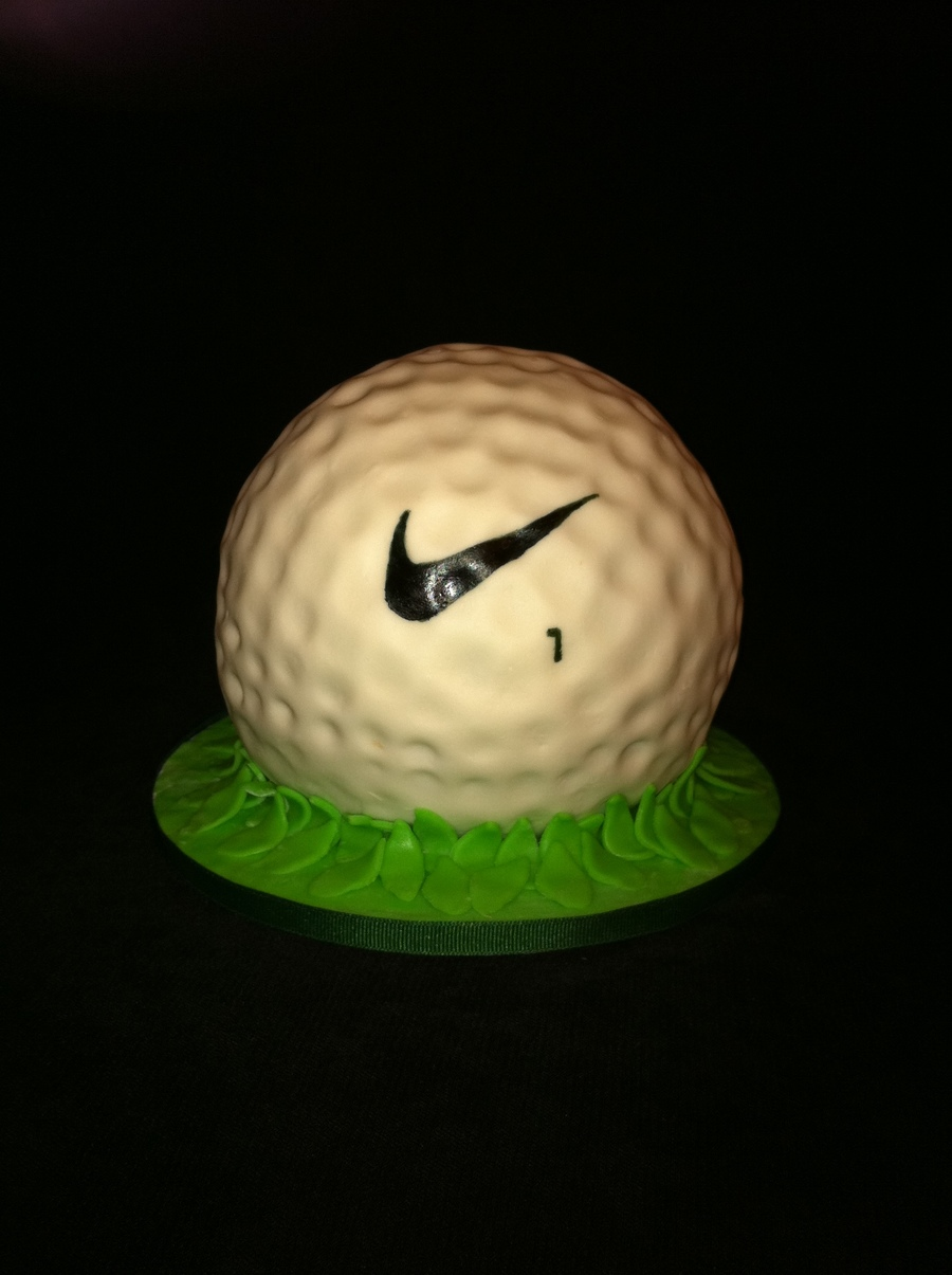 3D Golf Ball Cake on Cake Central