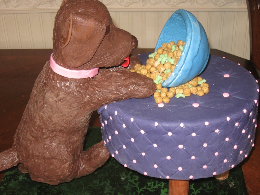 Puppy Climbing Stool on Cake Central