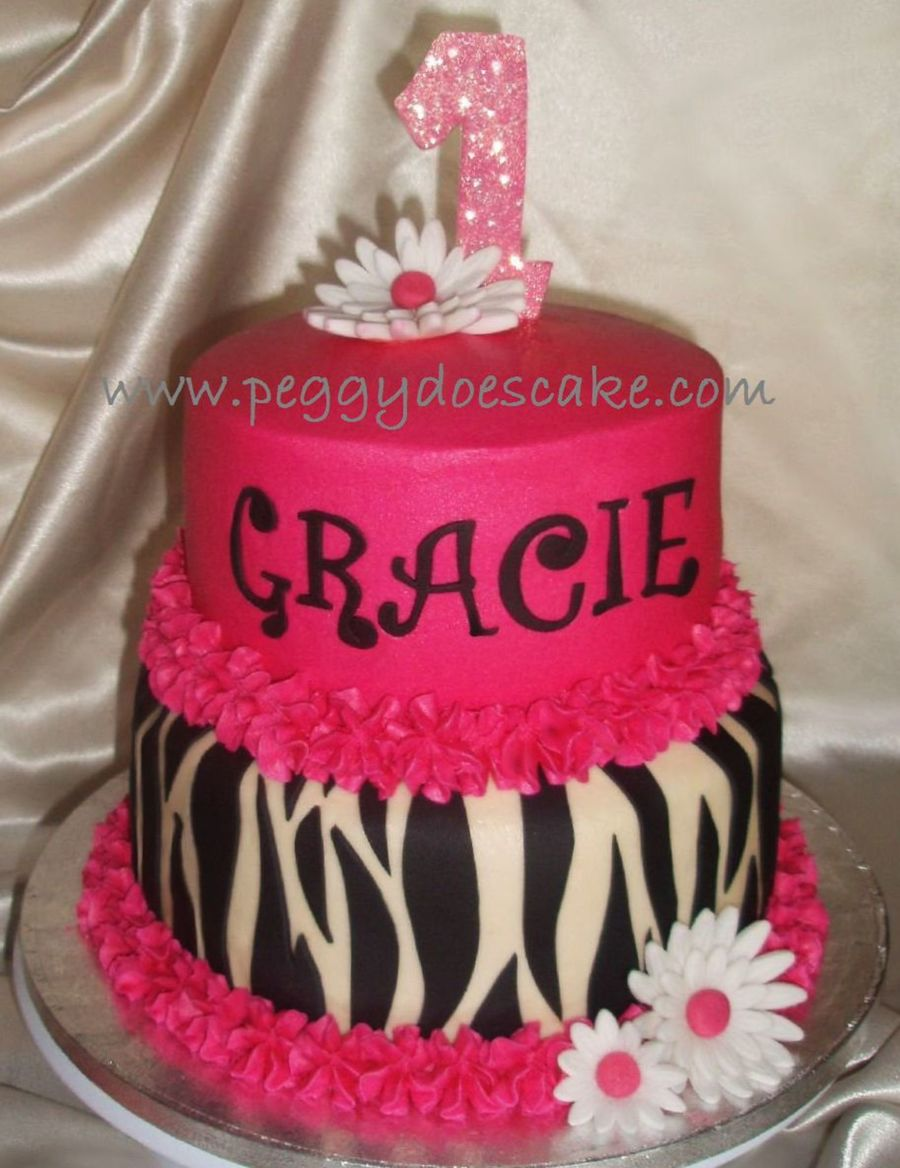 Hot Pink And Zebra Print Cake Cakecentral Com