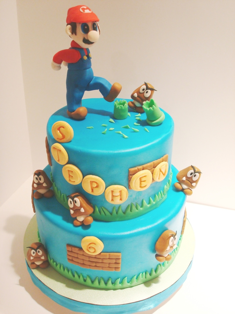 Mario Cake For Stephen on Cake Central