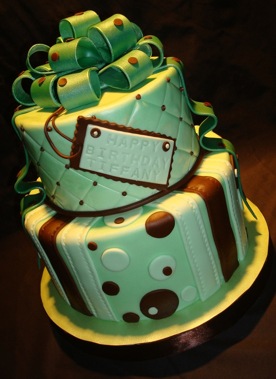 Green And Brown With Bow on Cake Central