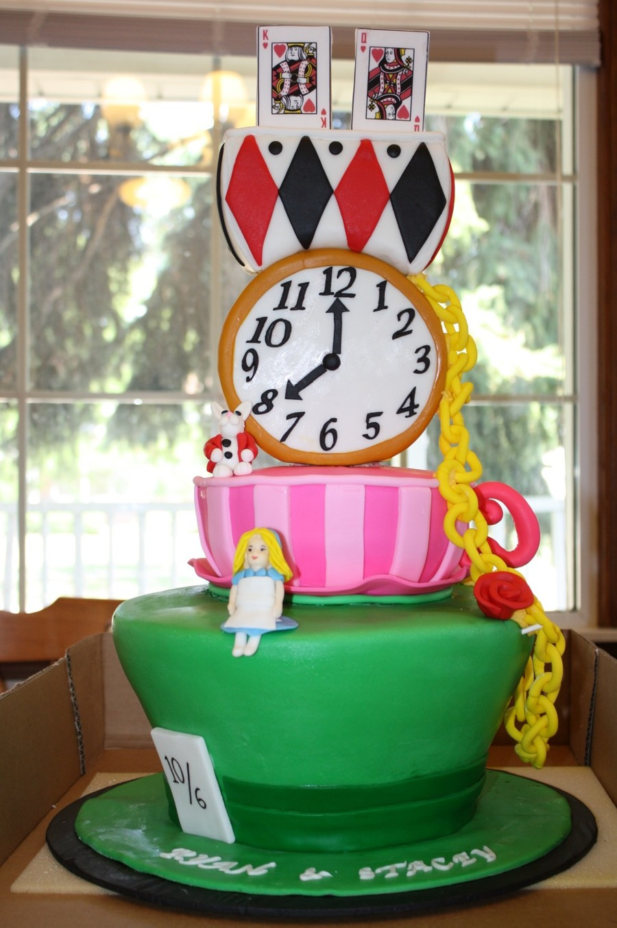 Alice In Wonderland Wedding Cake on Cake Central