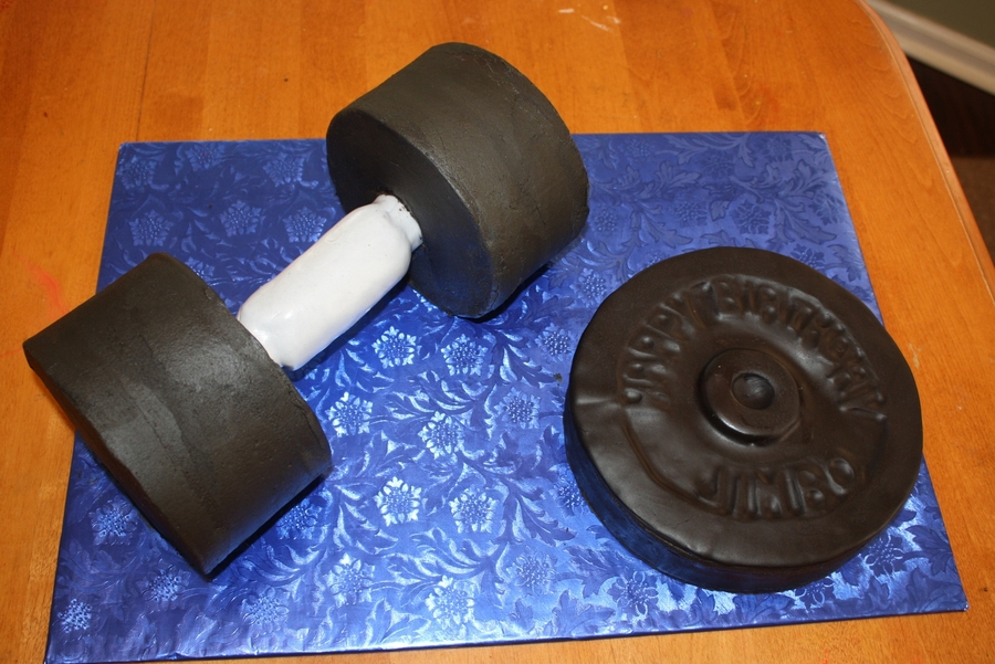 Weightlifting Cake on Cake Central