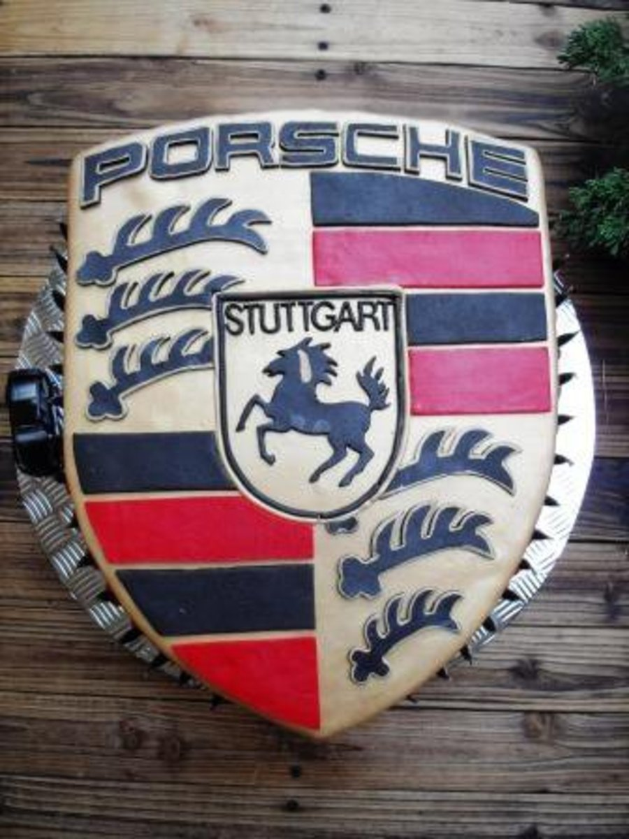 Porsche Logo Birthday Cake on Cake Central