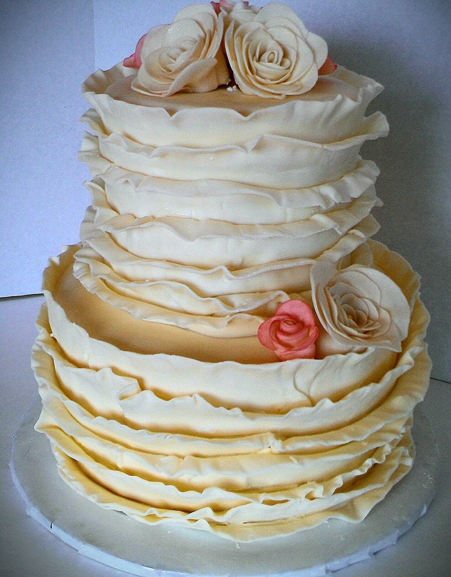 Vintage Ruffle Cake on Cake Central
