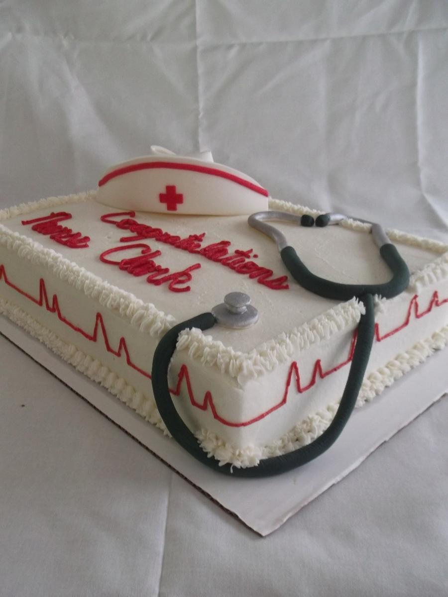 Nursing Graduation Cake - CakeCentral.com