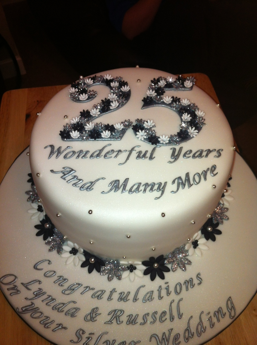 25Th Wedding Anniversary on Cake Central