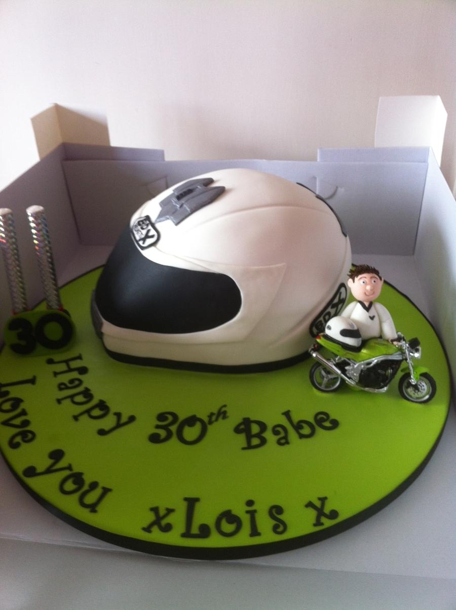 Motorbike Helmet And Motorbike Cakecentral Com