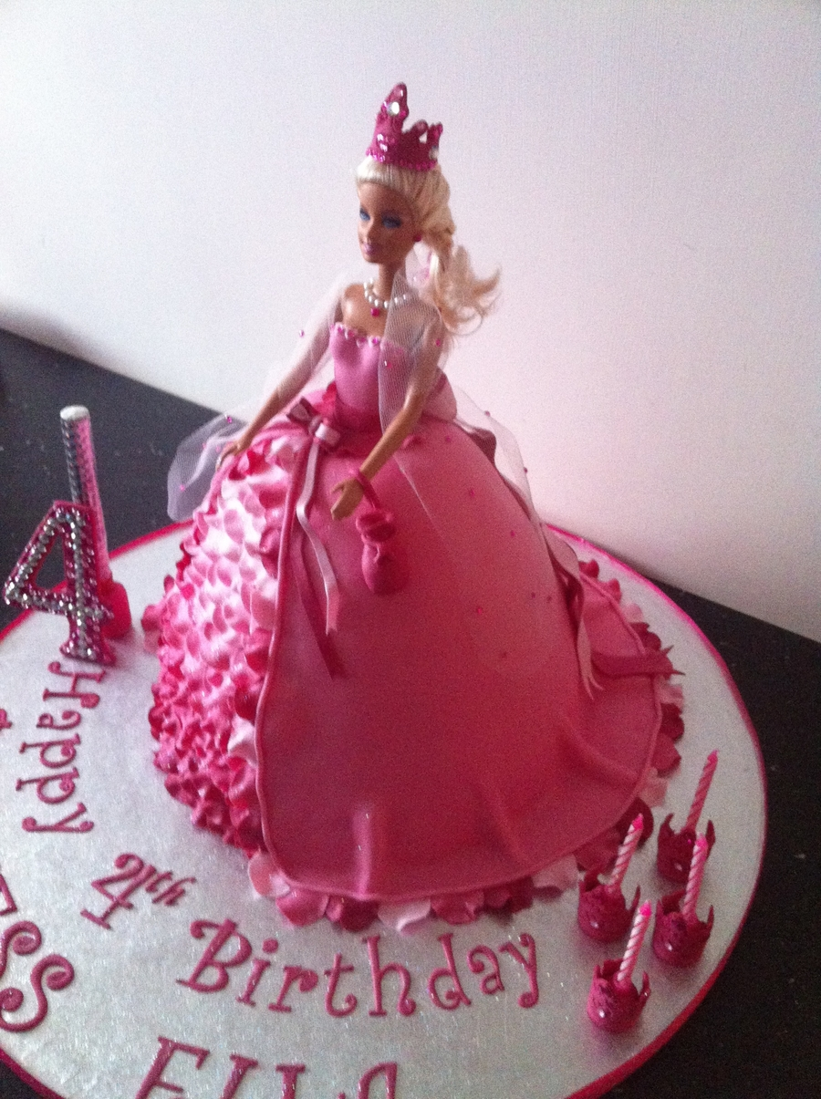 Barbie Pink Doll Cake Cakecentral Com