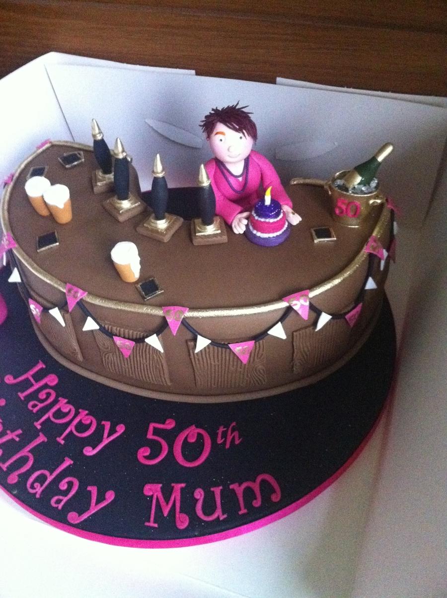 Bar Pub Woman Cake Cakecentral Com