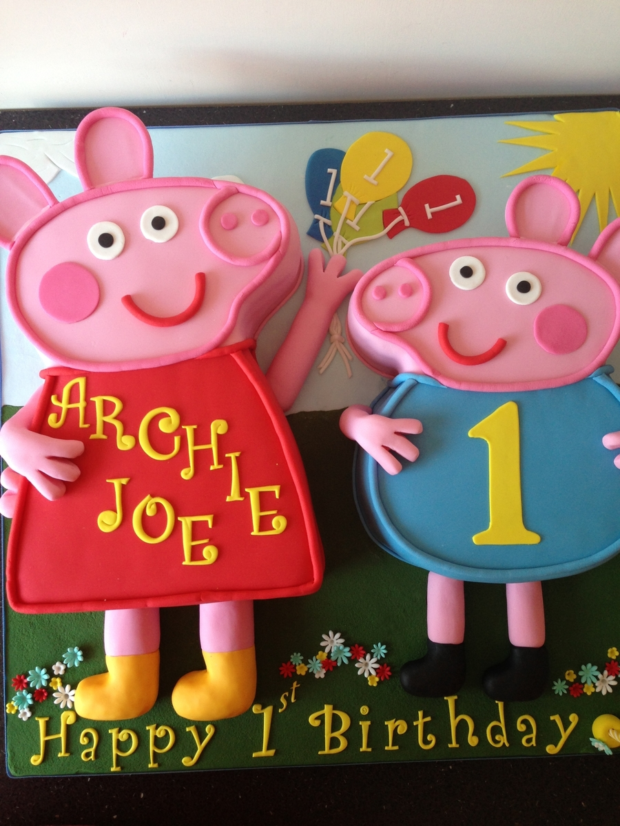 Peppa Pig And George on Cake Central