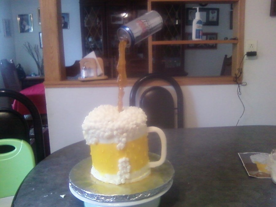 Beer Glass on Cake Central