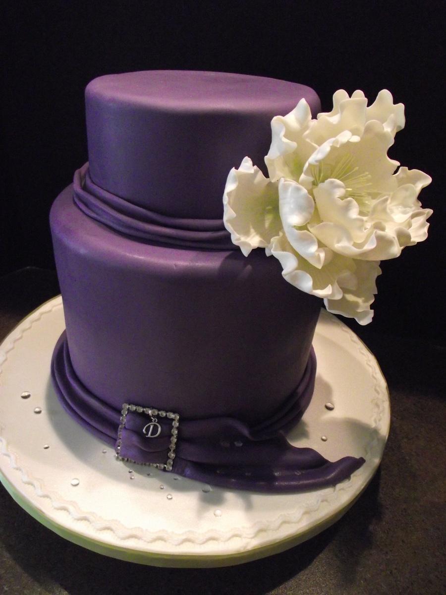 Elegant 40Th Birthday Cake on Cake Central