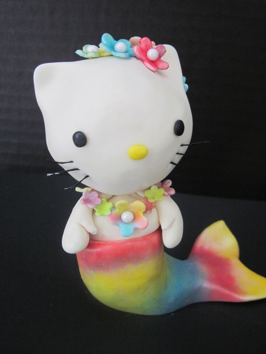 Hello Kitty Mermaid Cake Topper - CakeCentral.com