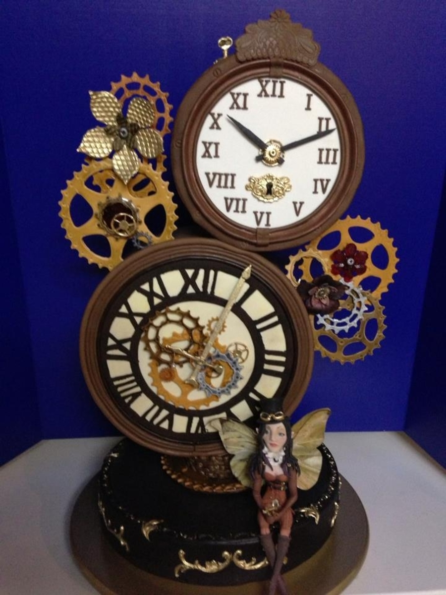 Steampunk Clock Cake on Cake Central