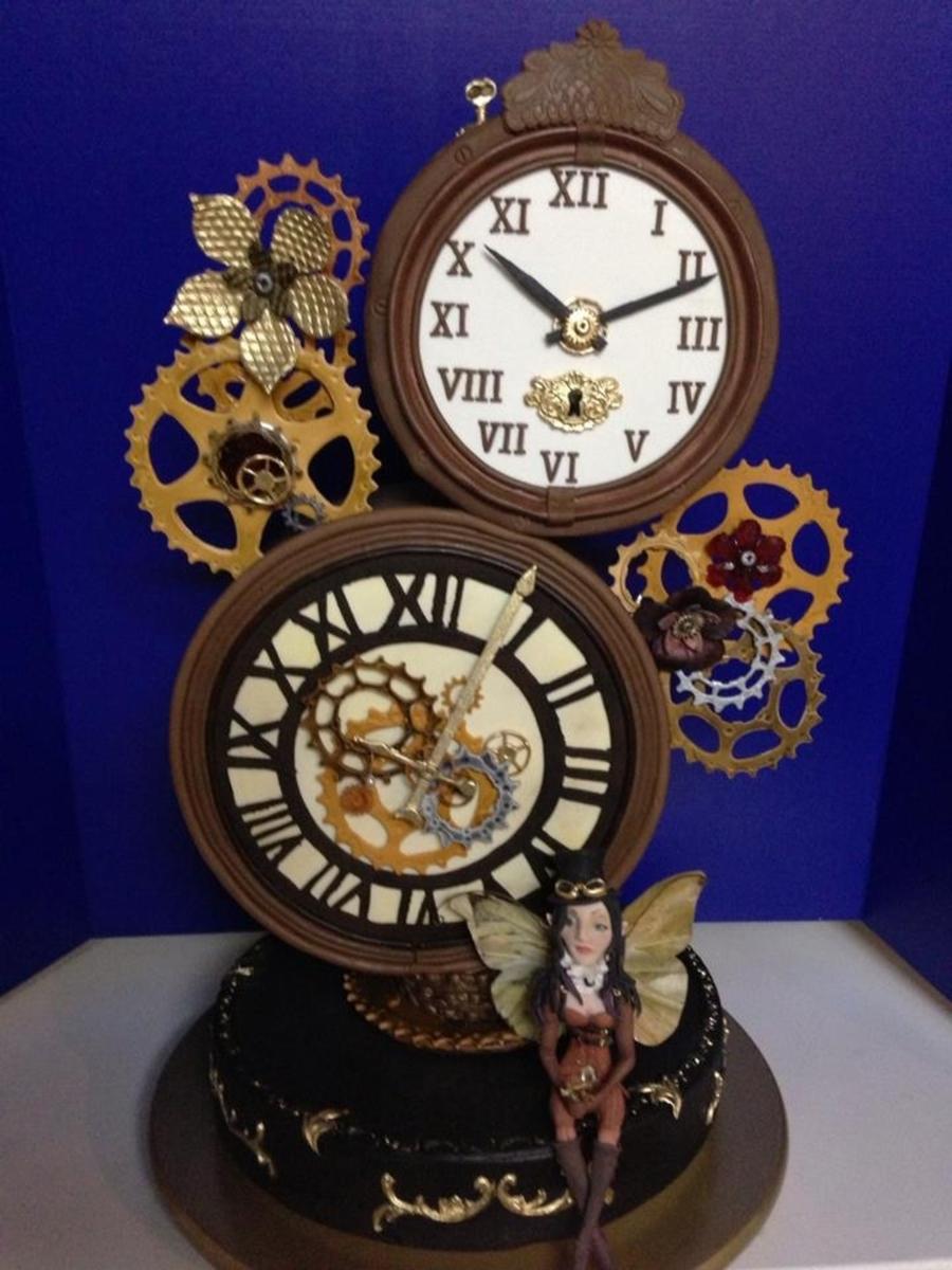 Steampunk Clock Cake Cakecentral Com