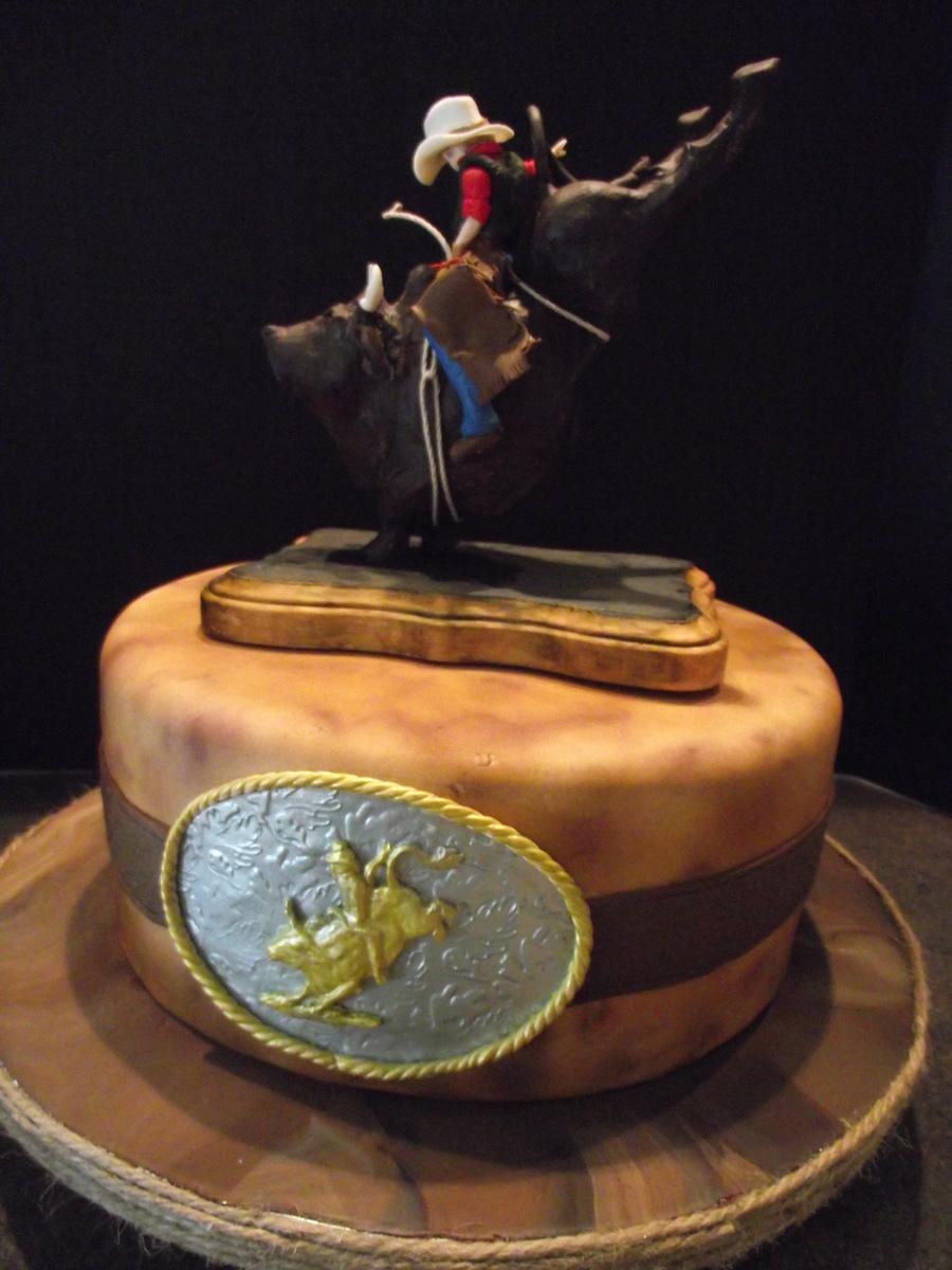 Bull Rider Birthday Cake Image