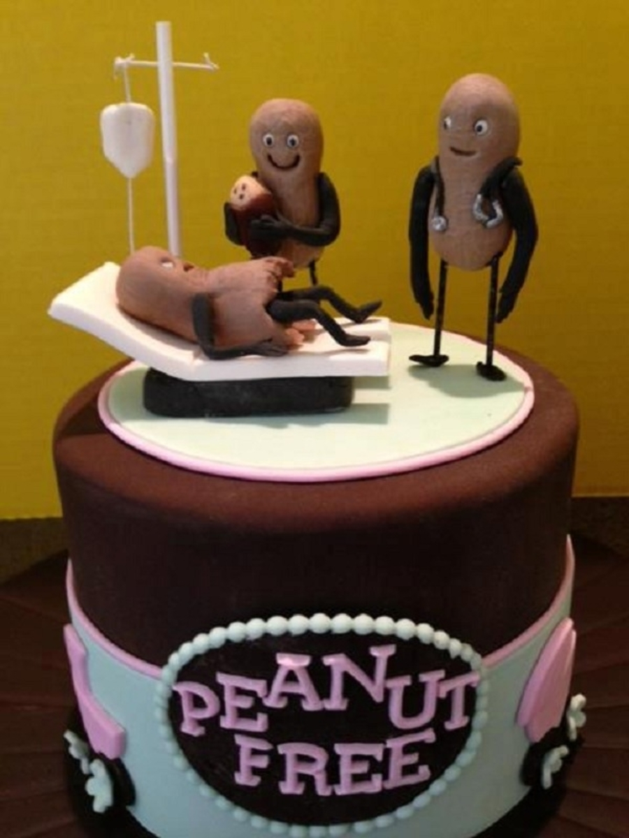 Peanut Free Baby Shower Cake on Cake Central