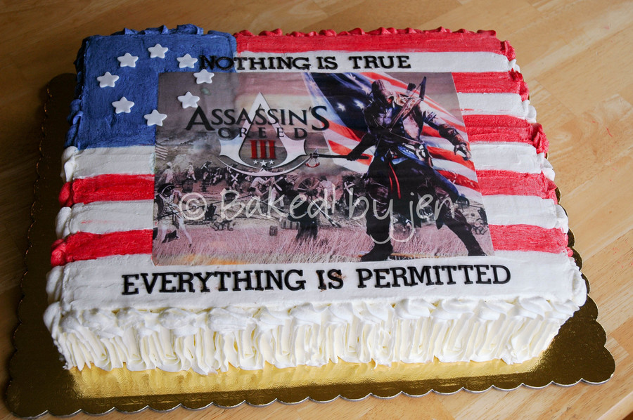 Assassin S Creed 3 Birthday Cake Cakecentral Com
