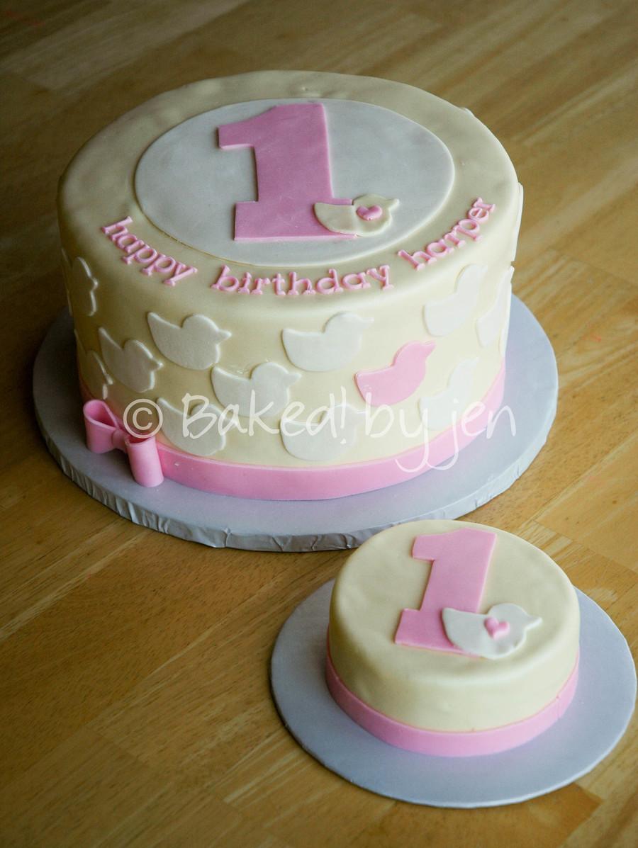 Duck First Birthday Cake CakeCentralcom