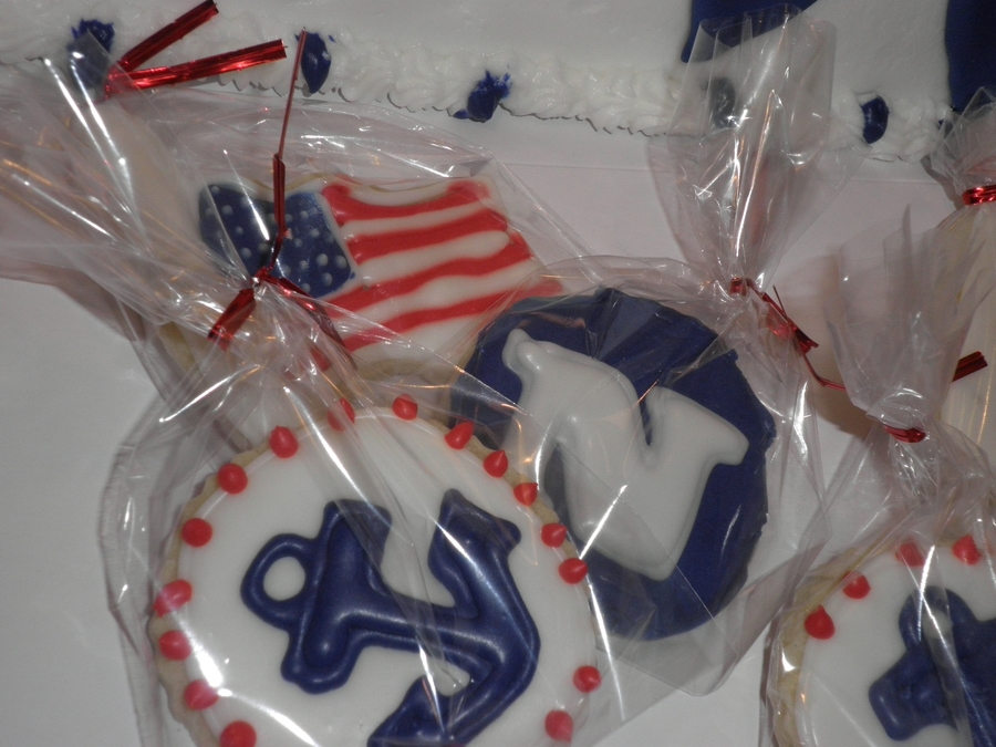 Navy Nautical Cookies on Cake Central