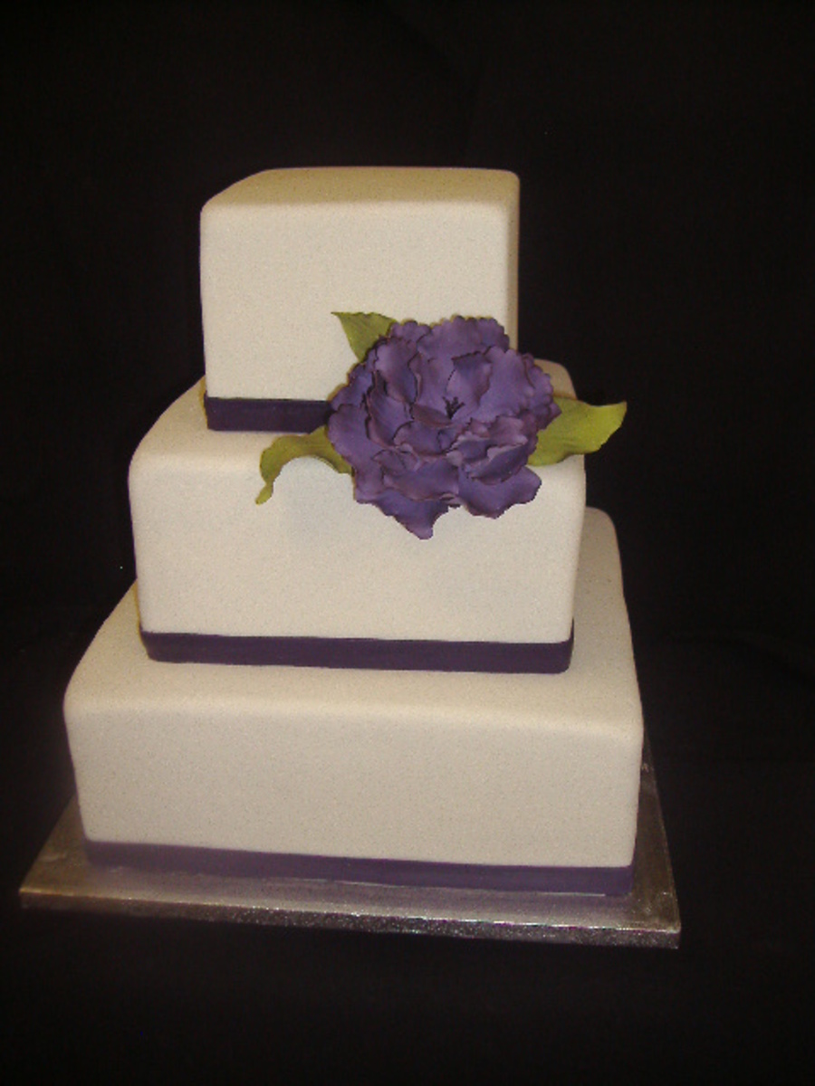 One Purple Peony  on Cake Central